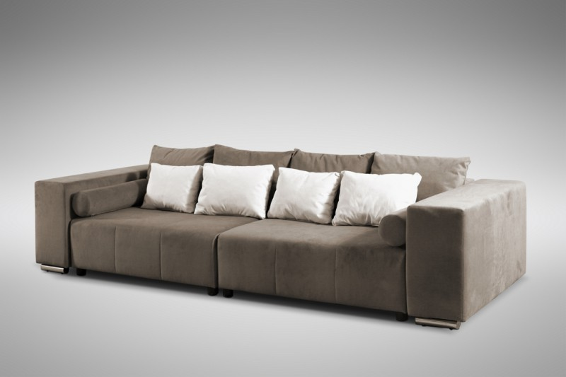 modernes schlafsofa sofa couch big sofa in braun schlaffunktion athen ebay. Black Bedroom Furniture Sets. Home Design Ideas