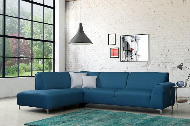 sofa couch ecksofa eckcouch sofagarnitur in t rkis oslo ebay. Black Bedroom Furniture Sets. Home Design Ideas