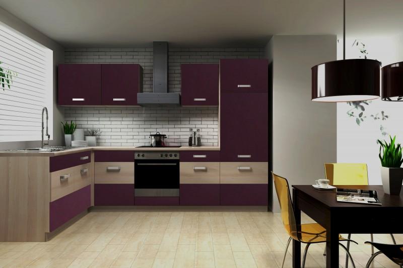 k che susanne 172x280 cm k chenzeile in aubergine akazie k chenblock variabel stellbar k chen. Black Bedroom Furniture Sets. Home Design Ideas