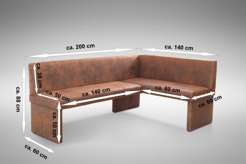 design eckbank otto modern mirkofaser wildlederlook vintage braun links. Black Bedroom Furniture Sets. Home Design Ideas