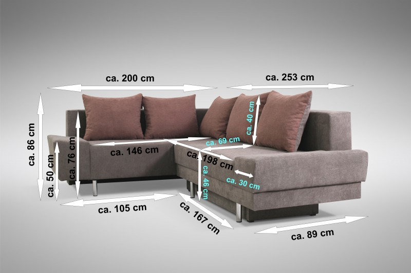 schlafsofa sofa couch ecksofa eckcouch braun. Black Bedroom Furniture Sets. Home Design Ideas