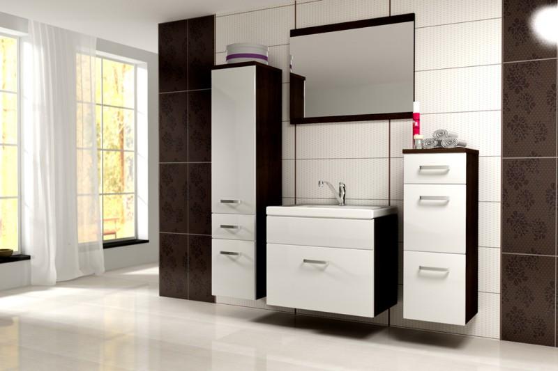 badm bel badezimmer evo 5tlg set in weiss wenge badm bel. Black Bedroom Furniture Sets. Home Design Ideas