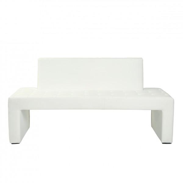 design sitzbank karina mit r ckenlehne kunstleder modern in weiss polsterm bel b nke. Black Bedroom Furniture Sets. Home Design Ideas