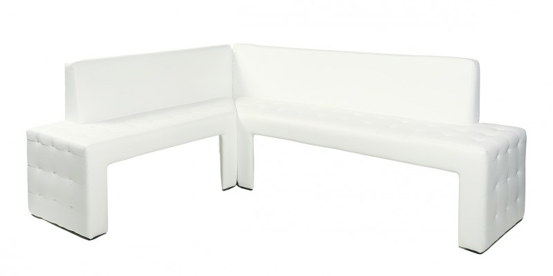 top design eckbank dinnerbank bank kunstleder weiss neu ovp rechts ebay. Black Bedroom Furniture Sets. Home Design Ideas