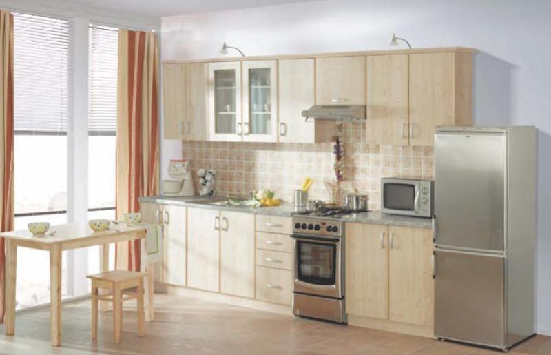 Küche Sydney Ahorn 310cm Küchenzeile / Küchenblock ...