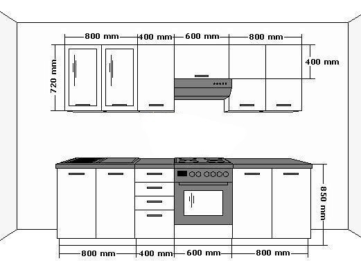 k che emma 260cm k chenzeile k chenblock variabel. Black Bedroom Furniture Sets. Home Design Ideas