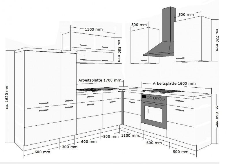 k chenblock ma e die neuesten innenarchitekturideen. Black Bedroom Furniture Sets. Home Design Ideas