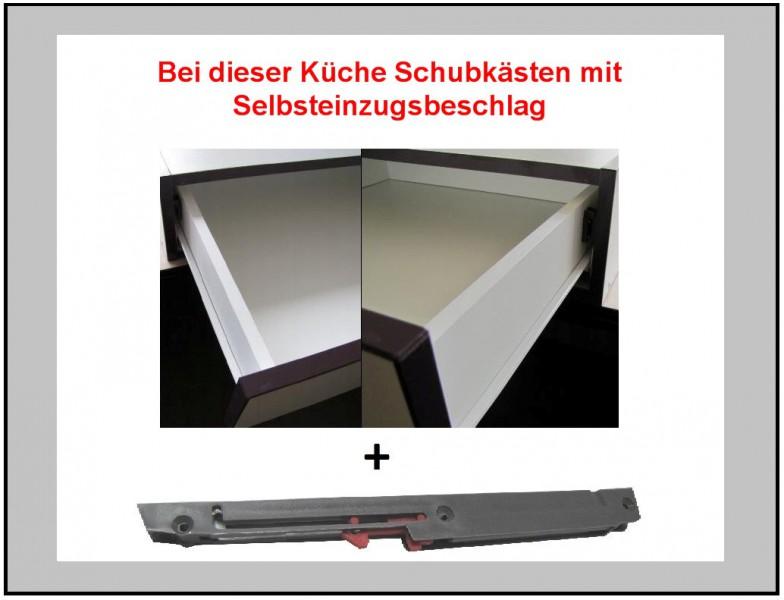 top kÜche 172x280 cm kÜchenzeile kÜchenblock - aubergine + akazie ... - Küche Wertverlust Berechnen