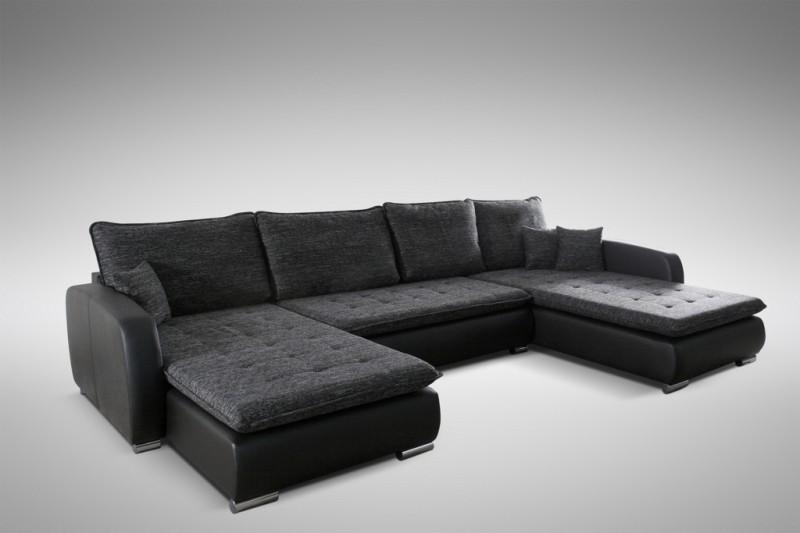 schlafsofa sofa couch ecksofa eckcouch in schwarz schlaffunktion kopenhagen l polsterm bel sofa. Black Bedroom Furniture Sets. Home Design Ideas