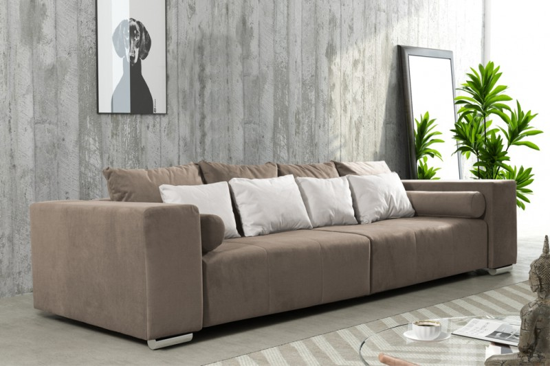 modernes schlafsofa sofa couch big sofa in braun schlaffunktion athen polsterm bel sofa. Black Bedroom Furniture Sets. Home Design Ideas