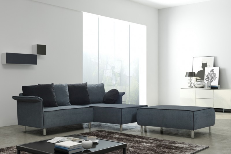 Schlafsofa sofa couch ecksofa eckcouch schwarz weiss for Küchen sofa