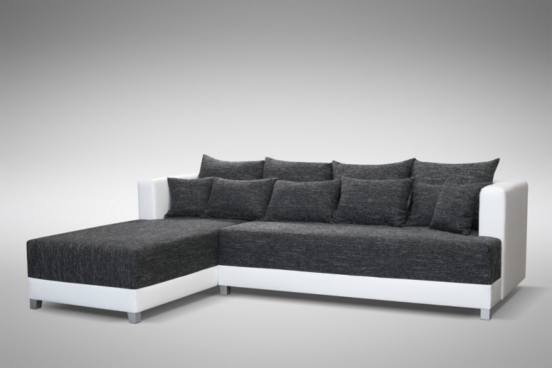 schlafsofa sofa couch ecksofa eckcouch schwarz weiss schlaffunktion wien 1 l polsterm bel sofa. Black Bedroom Furniture Sets. Home Design Ideas