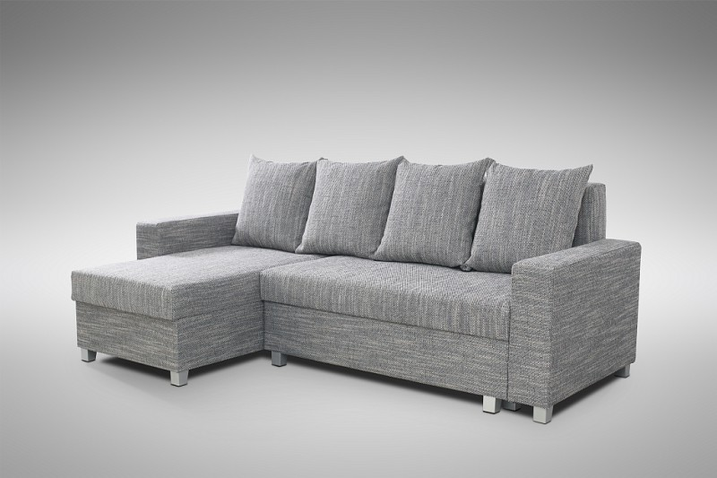 schlafsofa sofa couch ecksofa eckcouch hellgrau schlaffunktion luanda 2 l r polsterm bel sofa. Black Bedroom Furniture Sets. Home Design Ideas