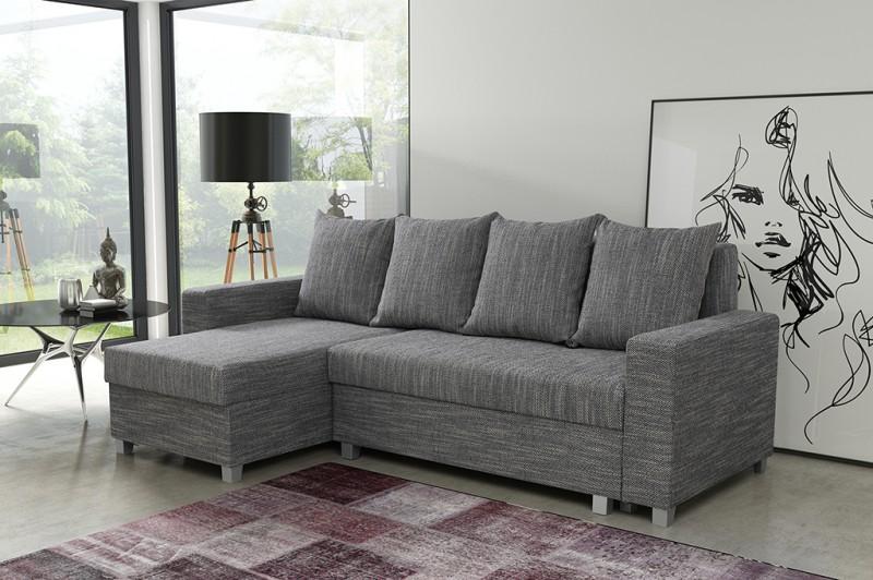 Schlafsofa sofa couch ecksofa eckcouch hellgrau for Schlafsofa ecksofa sofa couch inkl schlaffunktion