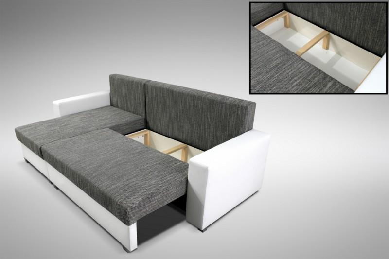 Schlafsofa sofa couch ecksofa eckcouch weiss hellgrau for Küchen sofa