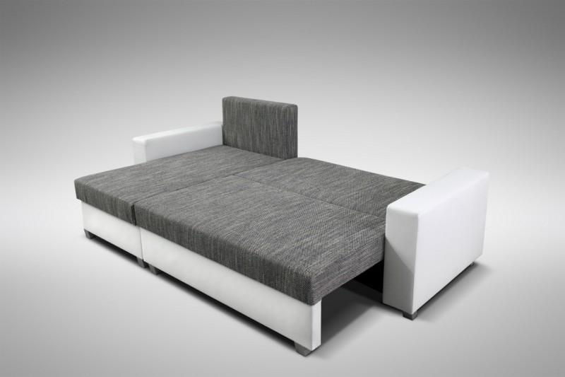 sofa couch ecksofa eckcouch wei hellgrau schlaffunktion luanda 3 l r. Black Bedroom Furniture Sets. Home Design Ideas