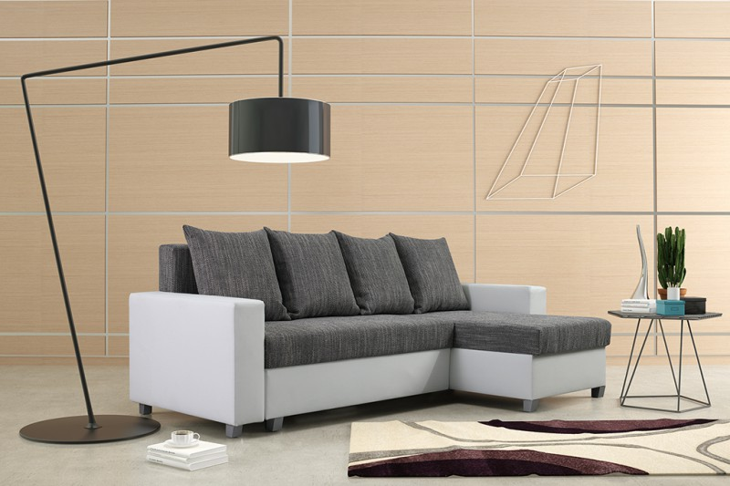 schlafsofa sofa couch ecksofa eckcouch wei hellgrau schlaffunktion luanda 3 l r polsterm bel sofa. Black Bedroom Furniture Sets. Home Design Ideas
