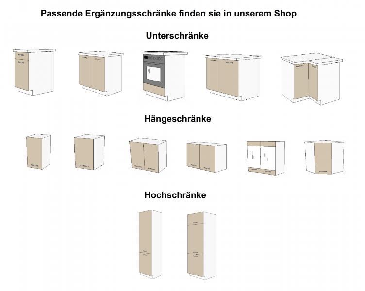 """küchen unterschrank 40 cm für das modell """"dave 240 eiche sonoma"""