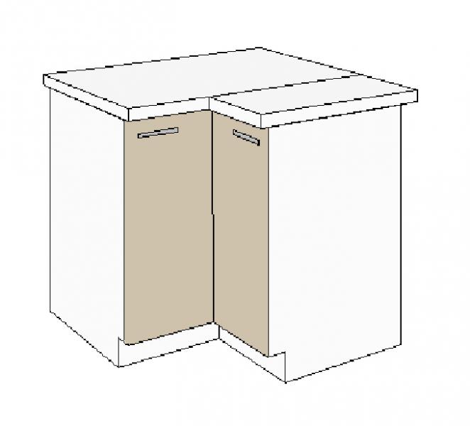 k chen eckunterschrank 89x89 cm f r das modell dave 240 eiche sonoma tr ffel k chen zubeh r. Black Bedroom Furniture Sets. Home Design Ideas