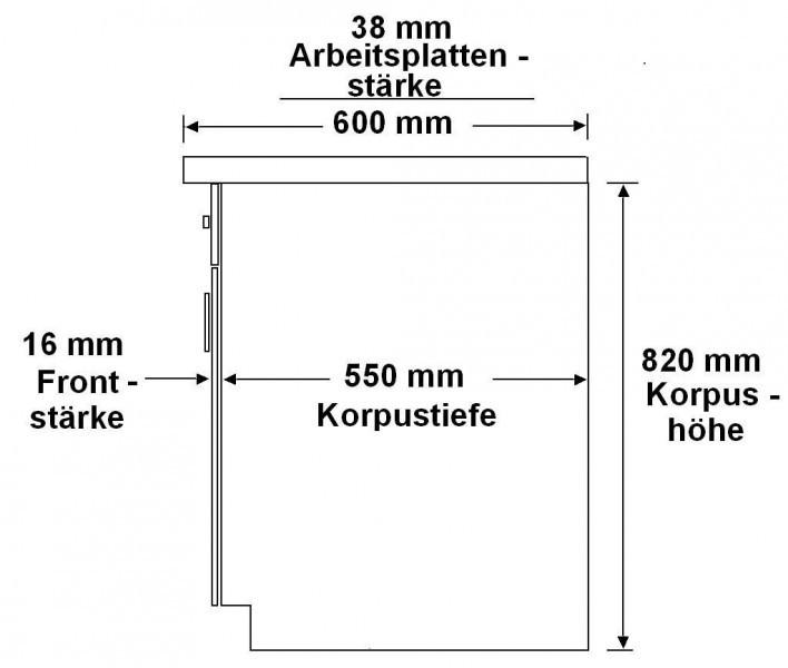 Kuche color 340 cm kuchenzeile kuchenblock einbaukuche in for Standard küchenzeile ma e
