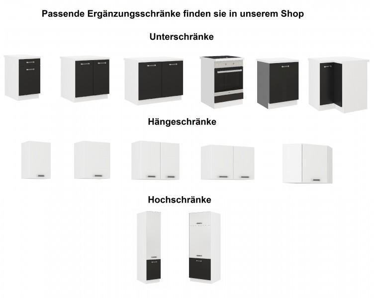 """küchen unterschrank 60 cm für das modell """"omega 240 schwarz +"""