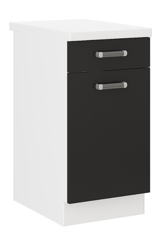 k chen unterschrank 40 cm f r das modell omega 240 schwarz weiss k chen zubeh r. Black Bedroom Furniture Sets. Home Design Ideas