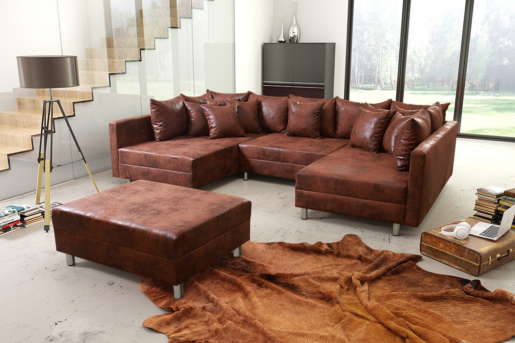 Schlafsofa sofa couch ecksofa eckcouch in schwarz for Ecksofa wohnlandschaft