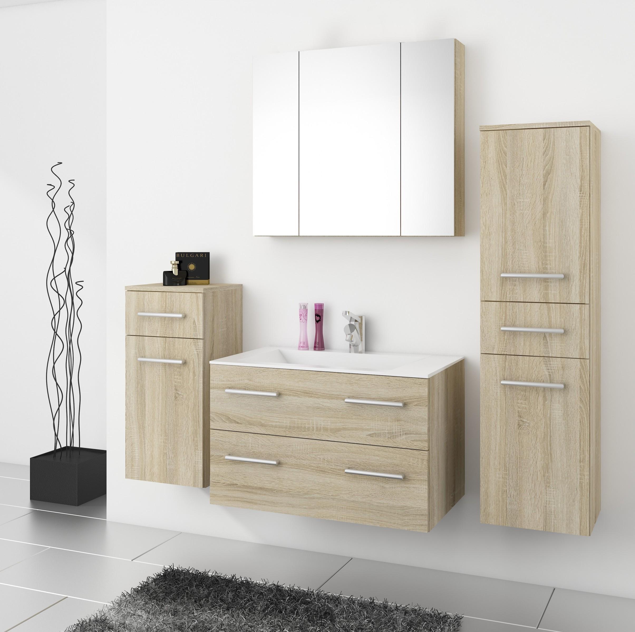 Top badm bel badezimmer regina 5tlg set in sonoma eiche for Badezimmer set gunstig