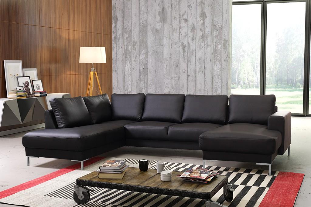 Wohnlandschaft sofa couch ecksofa eckcouch in gewebestoff for Eckcouch schwarz