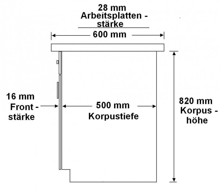 küchenunterschrank korpus