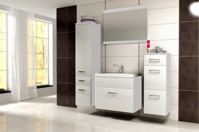 badm bel badezimmer evo 5tlg set in weiss weiss badm bel. Black Bedroom Furniture Sets. Home Design Ideas
