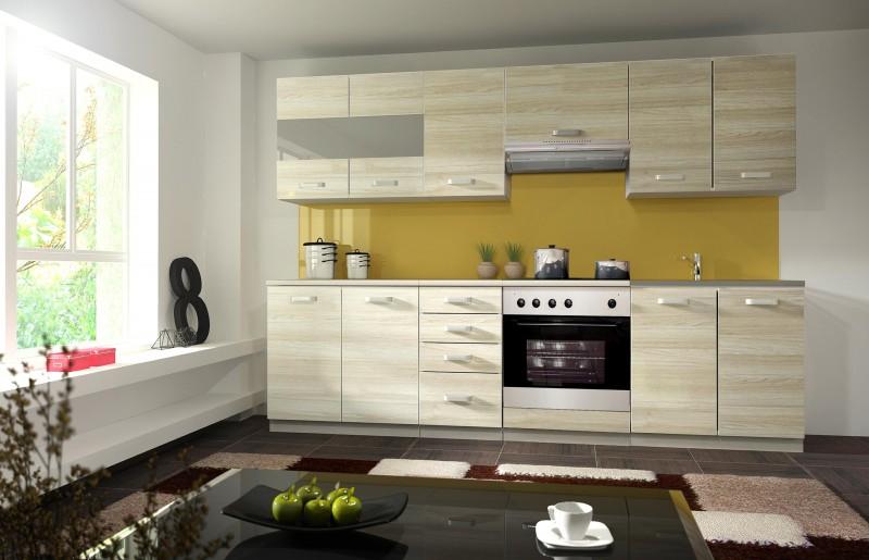 Küche Eko 260 cm Küchenzeile / Küchenblock variabel stellbar in ...