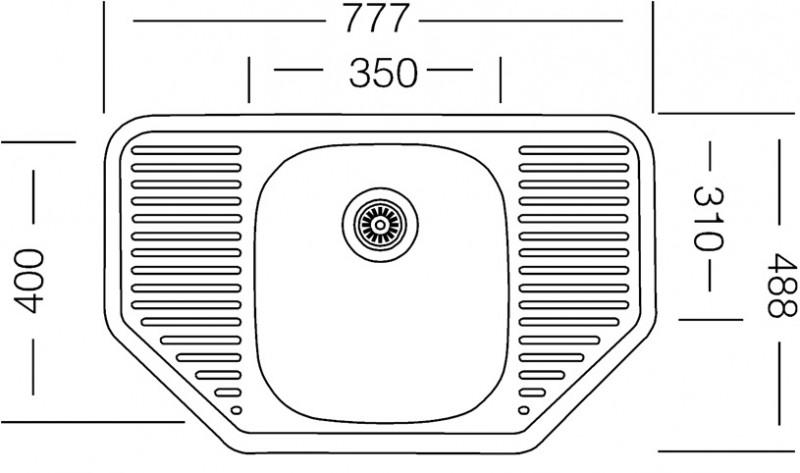 edelstahlsp le 78x49cm mit ablage einbausp le edelstahl waschbecken k chensp le k chen zubeh r. Black Bedroom Furniture Sets. Home Design Ideas