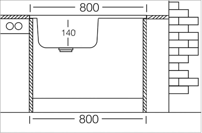 auflagesp le edelstahl edelstahlsp le 80cm x 60cm mit ablage sp le waschbecken k chensp le. Black Bedroom Furniture Sets. Home Design Ideas