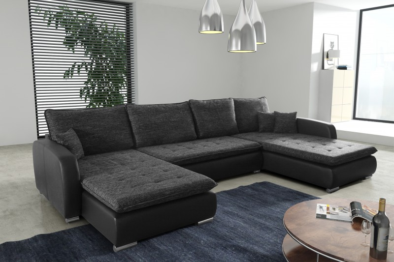 schlafsofa sofa couch ecksofa eckcouch in schwarz schlaffunktion kopenhagen l polsterm bel sofa. Black Bedroom Furniture Sets. Home Design Ideas