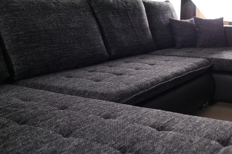 Schlafsofa sofa couch ecksofa eckcouch in schwarz for Ecksofa lang