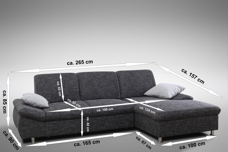 schlafsofa sofa couch ecksofa eckcouch in graubraun mit. Black Bedroom Furniture Sets. Home Design Ideas