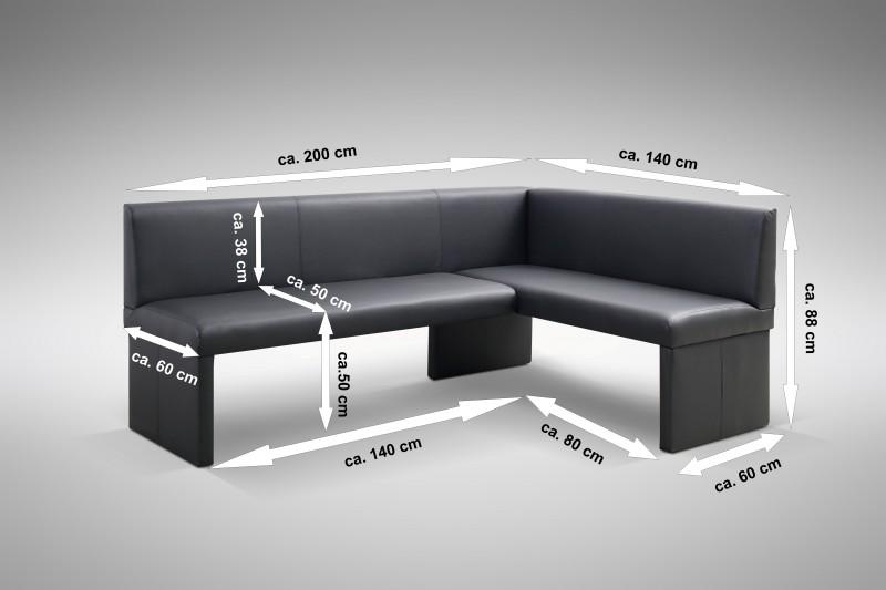 Die hochwertige Design Eckbank Otto mit dem soliden Bau und dem dezent