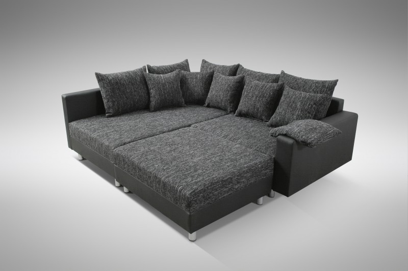 modernes sofa couch ecksofa eckcouch in schwarz eckcouch mit hocker minsk l polsterm bel sofa. Black Bedroom Furniture Sets. Home Design Ideas