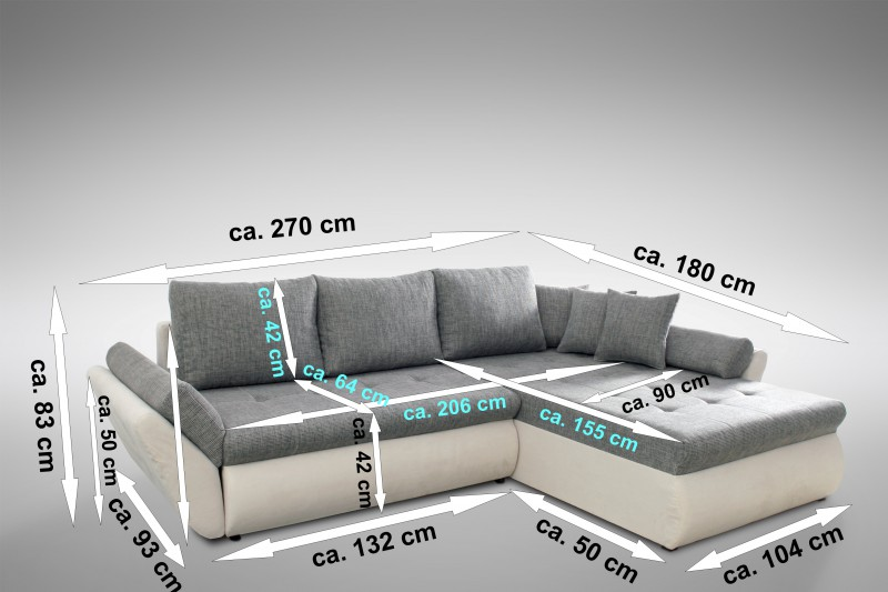 schlafsofa sofa couch ecksofa eckcouch mit schlaffunktion. Black Bedroom Furniture Sets. Home Design Ideas