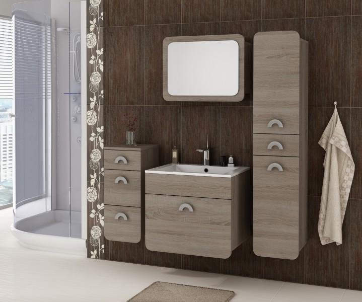 badm bel badezimmer rondo 5tlg set in sonoma eiche tr ffel badm bel. Black Bedroom Furniture Sets. Home Design Ideas