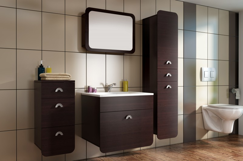 badm bel badezimmer rondo 5tlg set in wenge badm bel. Black Bedroom Furniture Sets. Home Design Ideas