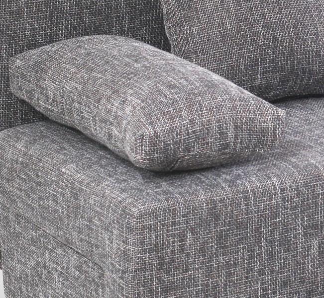 Schlafsofa sofa couch ecksofa eckcouch grau schlaffunktion for Eckcouch grau