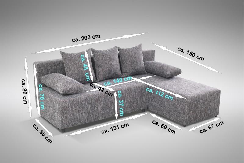 schlafsofa sofa couch ecksofa eckcouch grau schlaffunktion astana l r polsterm bel sofa. Black Bedroom Furniture Sets. Home Design Ideas