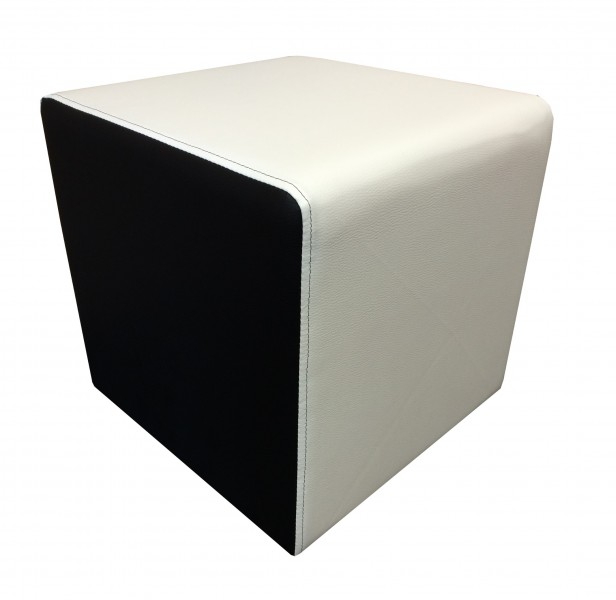 Hocker modern schwarz  Design Sitzwürfel Kubus I Extra Kunstleder Hocker modern 45x45x45 ...