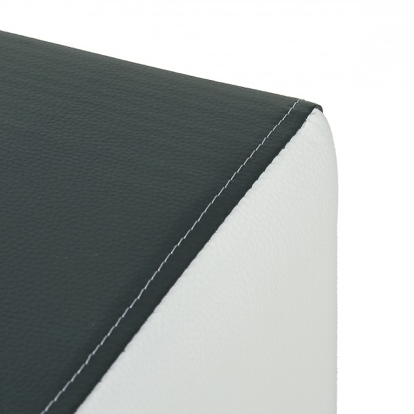 Hocker modern schwarz  Design Sitzwürfel Kubus I Plus Kunstleder Hocker modern 45x45x45 ...