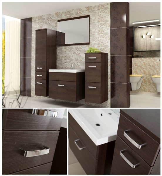 badm bel badezimmer evo 5tlg set in wenge wenge badm bel. Black Bedroom Furniture Sets. Home Design Ideas