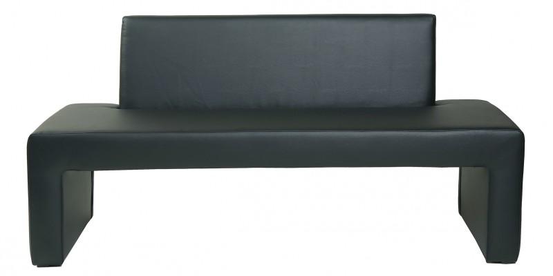 design sitzbank karina bank mit r ckenlehne kunstleder modern in schwarz polsterm bel b nke. Black Bedroom Furniture Sets. Home Design Ideas