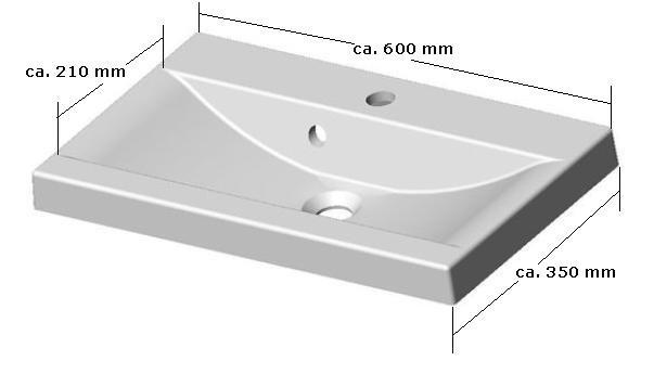 Badmöbel / Badezimmer EVO 5tlg. Set in violett / weiss Badmöbel